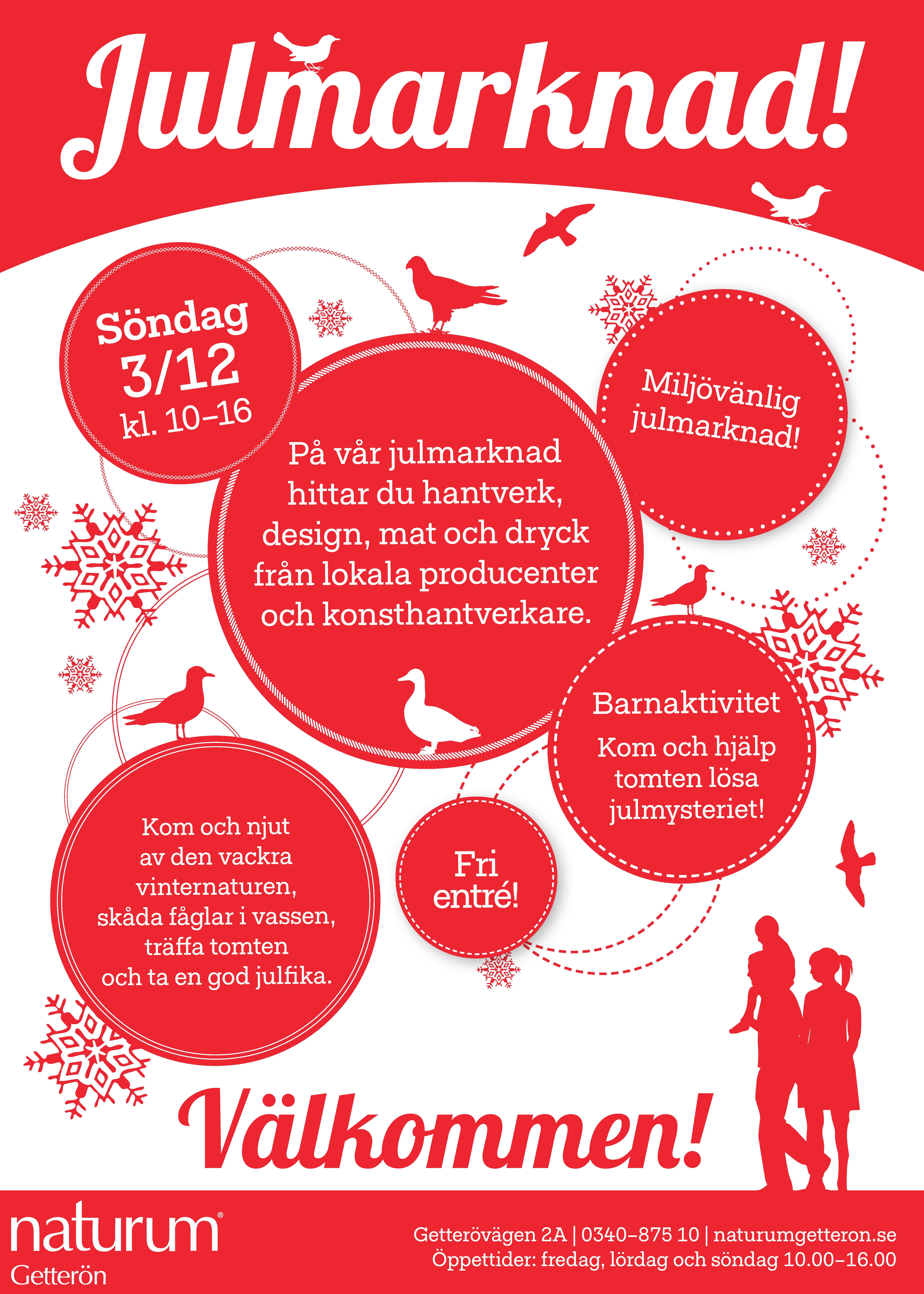 Julmarknad: Söndag 3 december kl. 10.00-16.00