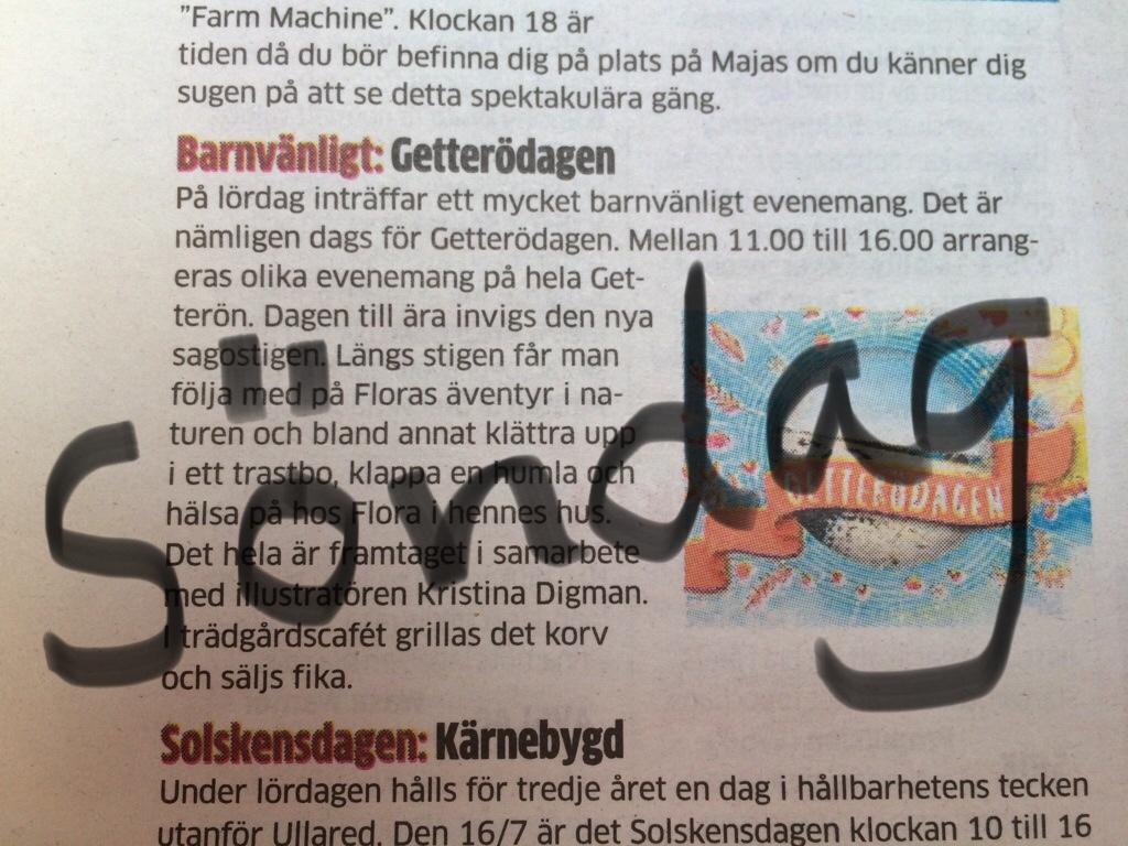 Felskrivning i Hallands Nyheter